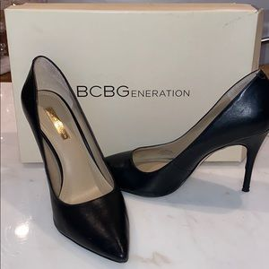Bcbg black stilettos